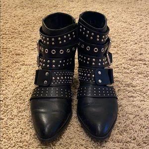 Black studded boots Fergalicious brand size 10